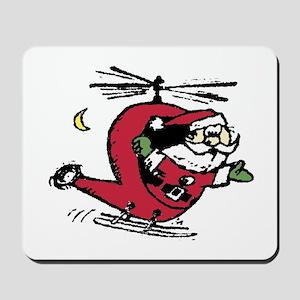 Santa Copter Mousepad