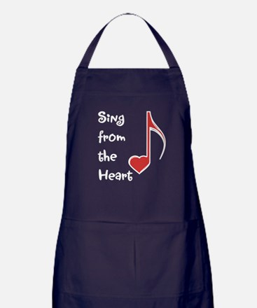 Sing from the Heart Apron (dark)
