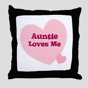 Auntie Loves Me Throw Pillow