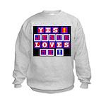 Jesus Loves Me!  Kids Sweatshirt