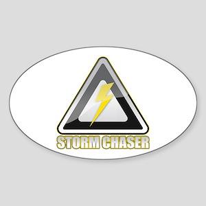 Storm Chaser Lightning Oval Sticker