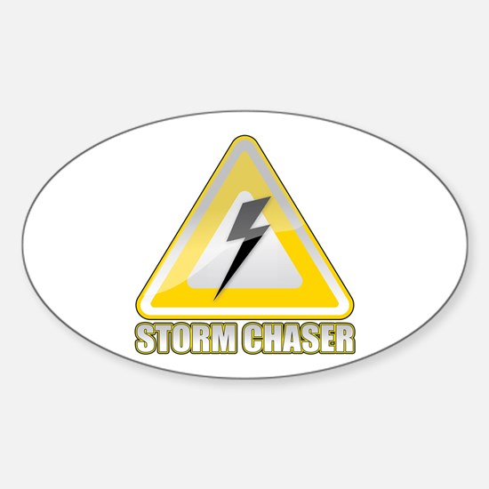 Storm Spotter Lightning Sticker (Oval)