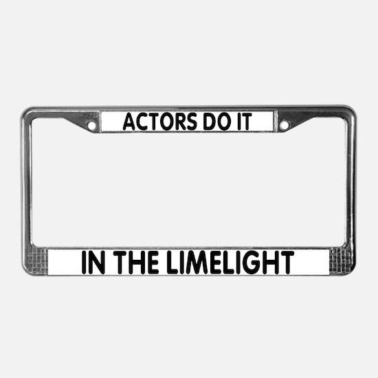 Cool Limelight License Plate Frame