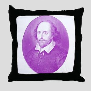 William Shakespeare the Grape Throw Pillow