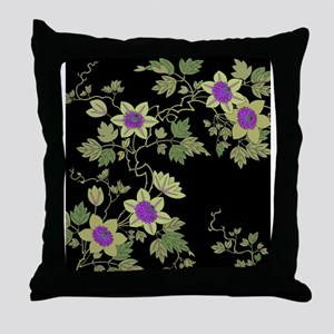 Japanese textile Tessenka Throw Pillow