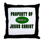 Property Design (Green) Throw Pillow