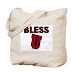 Bless U (dark red) Tote Bag