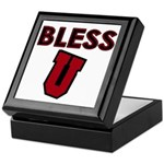 Bless U (dark red) Keepsake Box