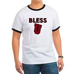 Bless U (dark red) Ringer T