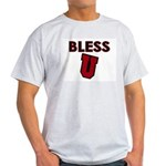 Bless U (dark red) Ash Grey T-Shirt