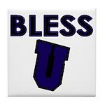 Bless U (dark Blue) Tile Coaster