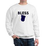 Bless U (dark Blue) Sweatshirt