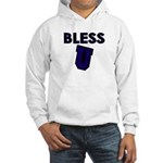 Bless U (dark Blue) Hooded Sweatshirt