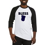 Bless U (dark Blue) Baseball Jersey