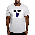 Bless U (dark Blue) Ash Grey T-Shirt
