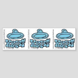 Condom Wrap It (left) Bumper Sticker