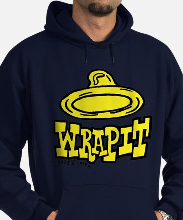 Condom Wrap It (left) Hoodie (dark)