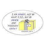 Gift from God Design Oval Sticker