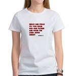 Christian Greeting Design Women's T-Shirt