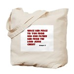 Christian Greeting Design Tote Bag
