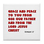 Christian Greeting Design Tile Coaster