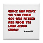 Christian Greeting Design Tile Coaster