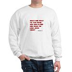 Christian Greeting Design Sweatshirt