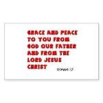 Christian Greeting Design Rectangle Sticker