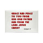 Christian Greeting Design Rectangle Magnet (100 pa