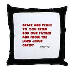 Christian Greeting Design Throw Pillow