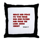 Christian Greeting Design Throw Pillow