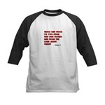 Christian Greeting Design Kids Baseball Jersey