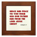 Christian Greeting Design Framed Tile