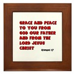 Christian Greeting Design Framed Tile