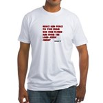 Christian Greeting Design Fitted T-Shirt