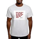 Christian Greeting Design Ash Grey T-Shirt