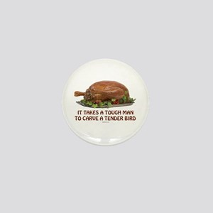 Turkey Carver Holiday Mini Button