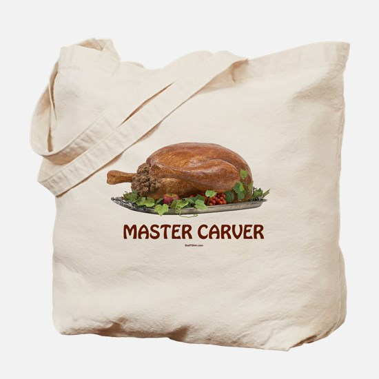 Master Carver Holiday Tote Bag