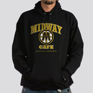 Midway Cafe, Black & Gold Pull-Over Hoodie