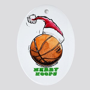 Merry Hoops Oval Ornament