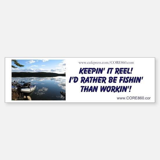 Rather Be Fishin' (GREYPONTOON) - Sticker (Bumper)