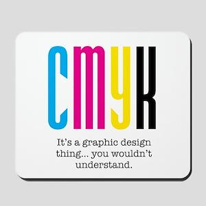 cmyk design thing Mousepad