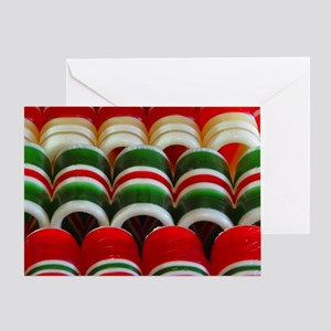 Ribbon Candy Stripes Greeting Card