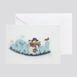Snowy Snowman Greeting Card