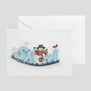 Snowy Snowman Greeting Card