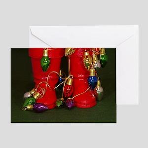 Santas Boots Greeting Card