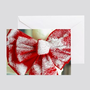 Snowy Bow Greeting Card