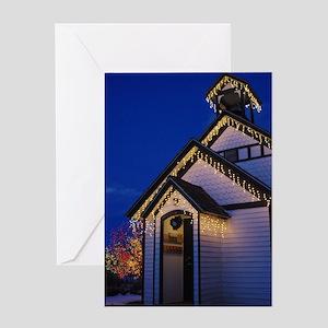 Twilight Church Greeting Card