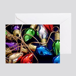 Christmas Bulbs Greeting Card