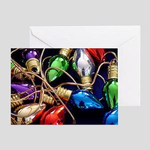 Christmas Bulbs Greeting Card